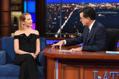 Anna Camp visits Stephen Colbert