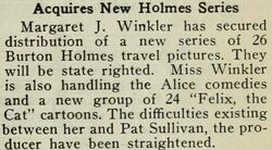 Blog The Film Daily May 1924 Winkler settles and Alice