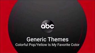 ABC Generic Theme - Colorful Pop Yellow is My Favorite Color