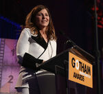 Catherine Keener speaks at Gotham Awards