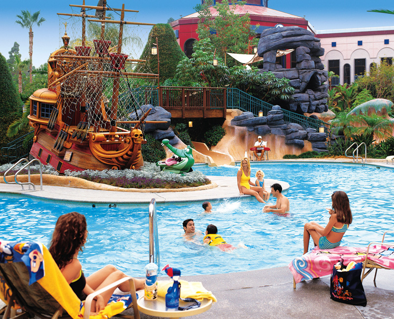 Anaheim Hotels Disneyland Hotel Pool Full Jpg