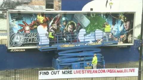 Marvel Мстители -- граффити постер. День 4.
