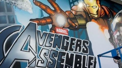 Marvel Мстители - граффити постер