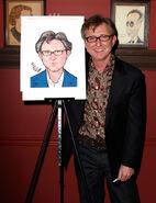 Tom Schumacher self caricature at Sardie's