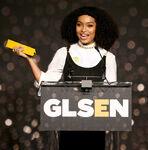 Yara Shahidi speaks at GLSEN awards
