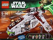 Republic gunship lego