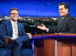 Seth Rogen visits Stephen Colbert