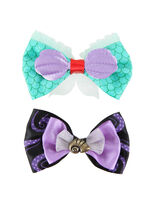 Disney The Little Mermaid Ariel & Ursula Hair Bow set