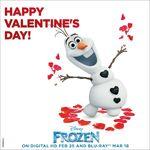 Frozen Happy Valentine's Day Poster