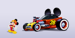 Mickey races No. 28