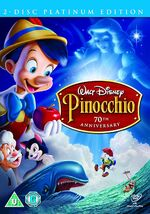 Pinocchio 70th Anniversary Platinum Edition 2009 UK DVD