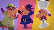 Three animated hallies