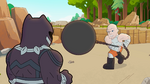 Black Panther vs. Absorbing Man in Marvel Super Hero Adventures