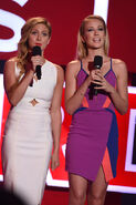 Brittany Snow & Anna Camp speak at iHeartRadio Music Awards