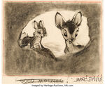 Marc Davis Bambi and Thumper