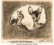 Marc Davis Bambi and Thumper