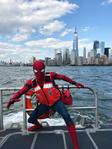 Spider-Man Wearing a Life Jacket