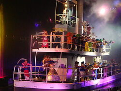 Steamboat Willie in Fantasmic