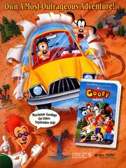A Goofy Movie VHS print ad Nick Mag Sept 1995
