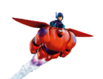 Hiro and Baymax Flying Render
