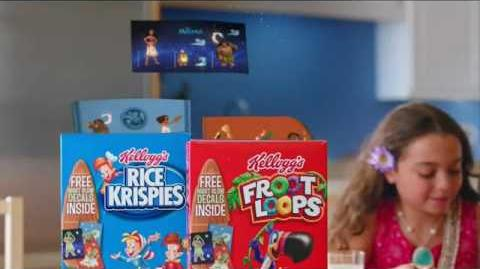 Kellogg's Commercial (Disney's Moana stickers, Froot Loops Rice Krispies featuring Carson White