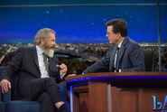 Mel Gibson visits Stephen Colbert