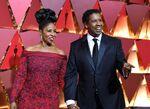Denzel Washington & wife Pauletta 89th Oscars