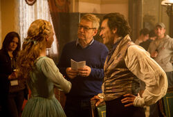 Lily James Kenneth Branagh Ben Chaplin Cinderella set