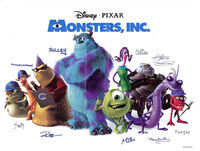 Monsters inc autographs by herure