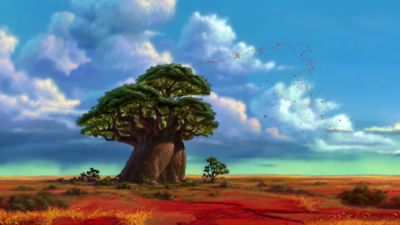 "Image 2: ""The Tree of Life"" in the Lion King movies. [2]"