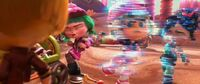 Vanellope and Taffyta glitching together