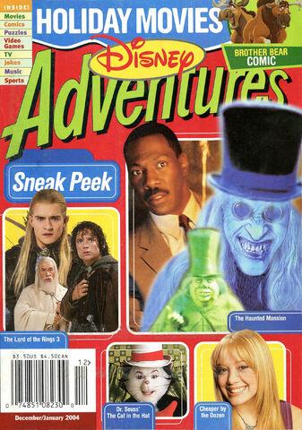 File:Disney Adventures Magazine cover December January 2004 Holiday Movies.jpg