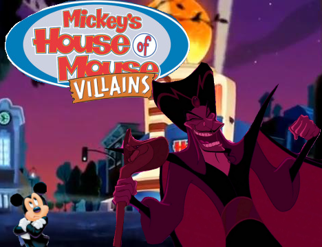 File:Mickey's House of Villains Jafar Mickey Poster.png