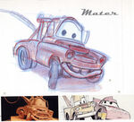 Pixar Cars Characters Sketches 02 Mater
