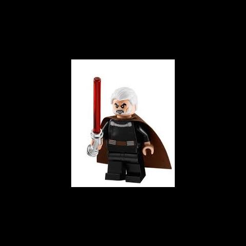 Hrabia Dooku w klockach LEGO.