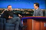 Ricky Gervais visits Stephen Colbert