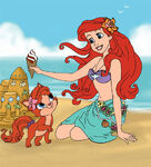 Ariel-And-Treasure-At-The-Beach