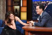 Kathryn Hahn visits Stephen Colbert