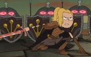 Sasha with a sword