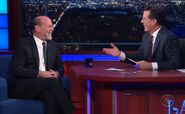Bruce Willis visits Stephen Colbert