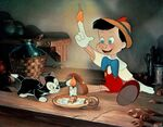 Pinocchio with finger on fire