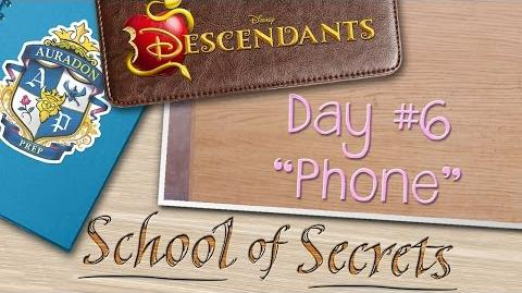 Day 6 Phone School of Secrets Disney Descendants