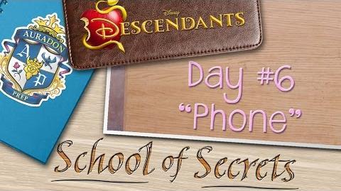 Day 6 Phone School of Secrets Disney Descendants