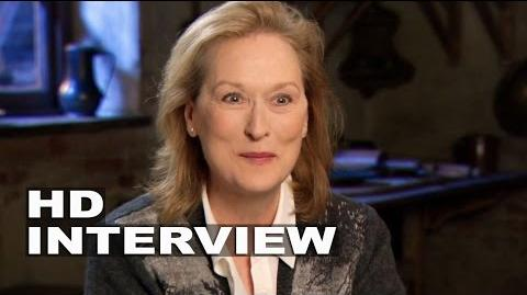 """Into the Woods Meryl Streep """"Witch"""" Behind the Scenes Movie Interview 1"""