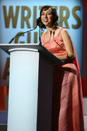 Kristen Schaal speaks at Writers Guild ceremony