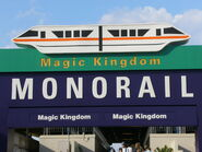 Magic Kingdom Monorail Entry Arch