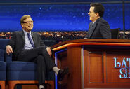 Andy Daly visits Stephen Colbert