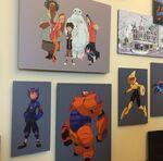 Big Hero 6 concept art display