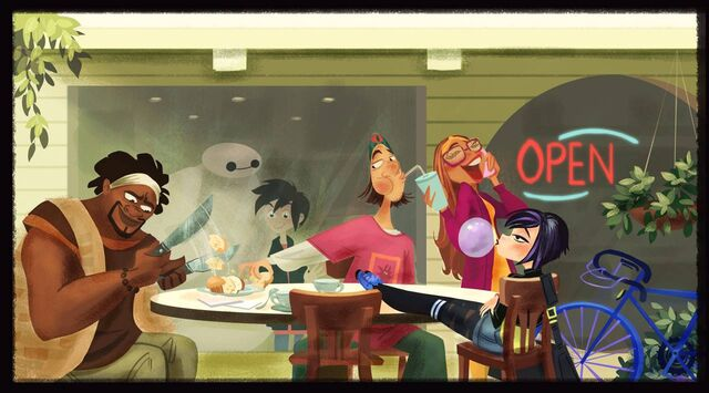 File:Big hero 6 team enjoying themselves concept art.jpg