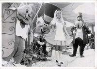 Disneyland postcard alice in wonderland days 1971 640